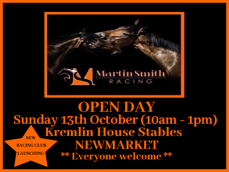 MARTIN SMITH RACING OPEN DAY - Horse Racing Hub